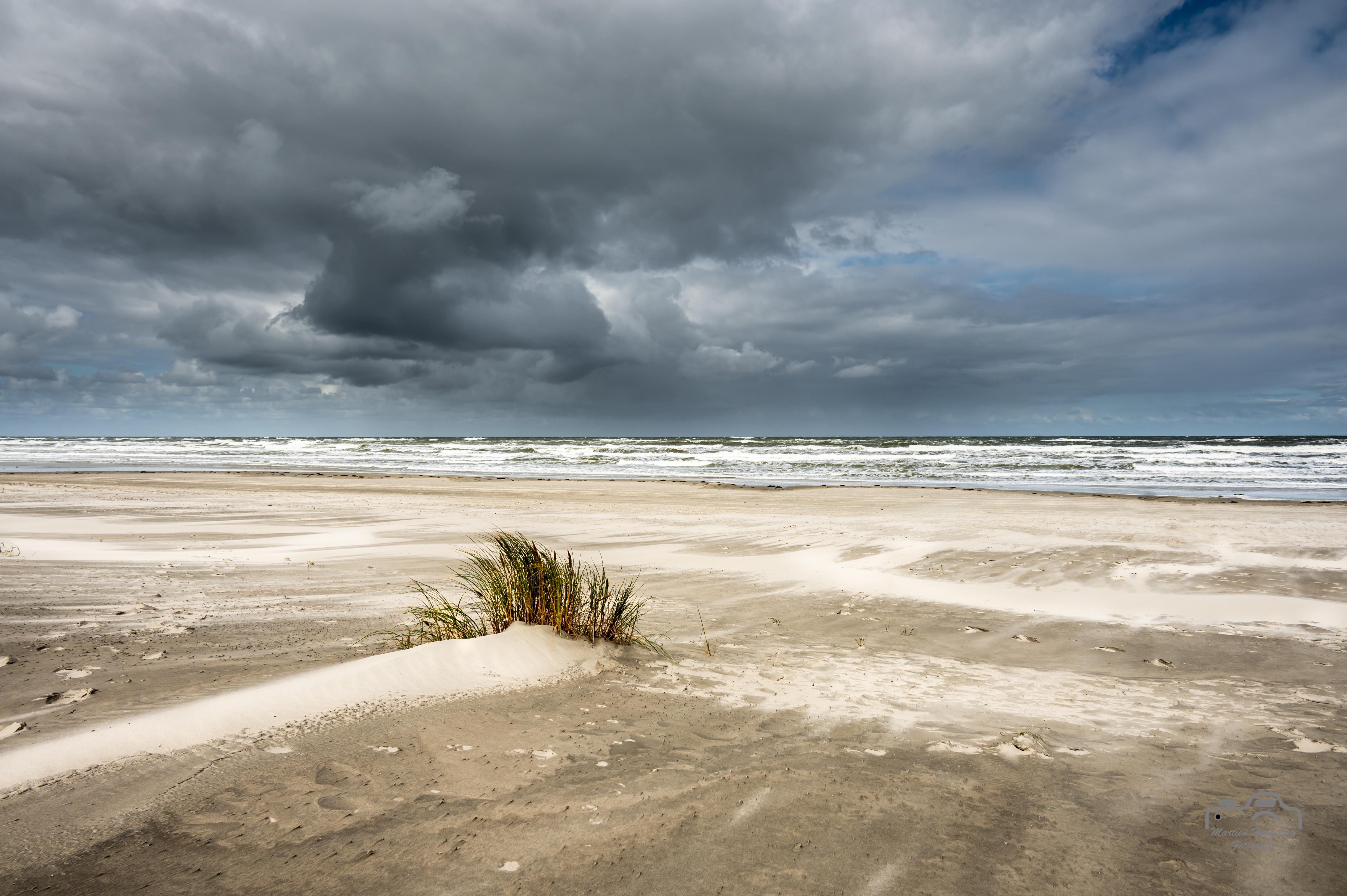 Noordzee bij straffe noordenwind