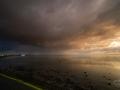 Zonsondergang over het wad bij Nes