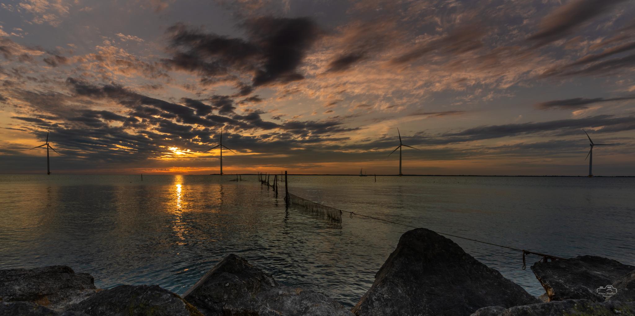 Sunset IJsselmeer bij Lemmer