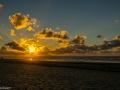 Sunset strand Buren